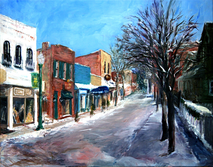 """Zionsville in Winter: South Main Street"""